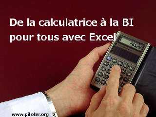 calculatrice, excel, BI