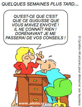 Humour business recommander les amis