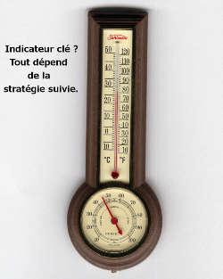 métaphore KPI, un baramètre thermomètre