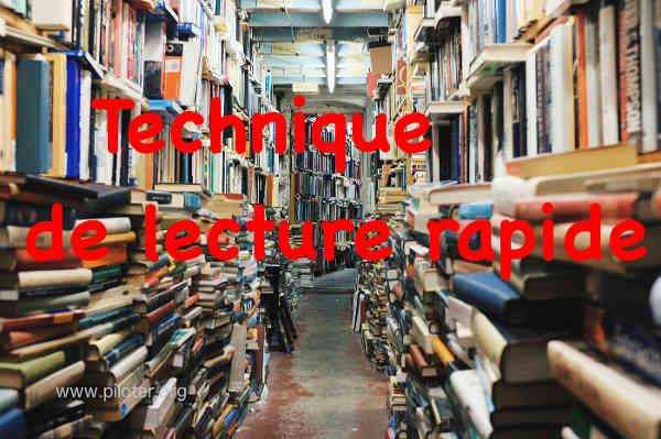 lecture rapide, une bibliothèque