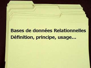 Bases De Donnees Relationnelles Sgbdr Definition