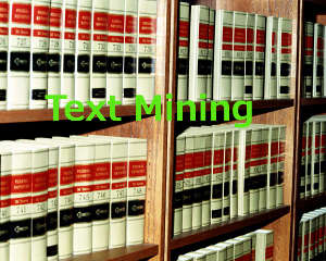 Une bibliothèque symbolise les informations à extraire